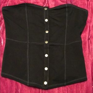 Express one eleven snap front tube top NWOT